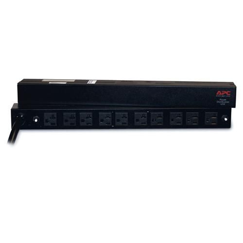 RACK PDU APC AP9560 BASIC, 1U, 30A, 120V, (10)5-20 PARA RACK AR2105BLK itemprop=