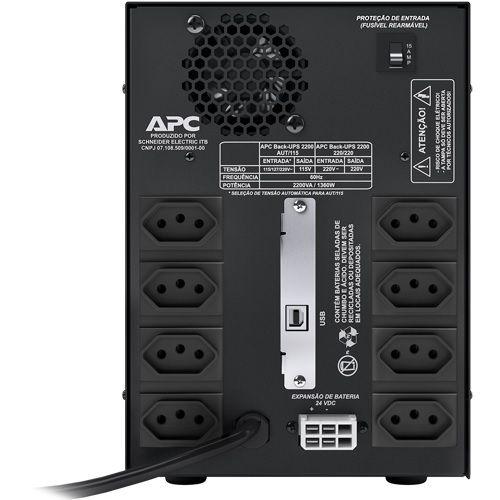 NOBREAK APC BZ2200I-BR BACK-UPS 2200VA, 220V itemprop=